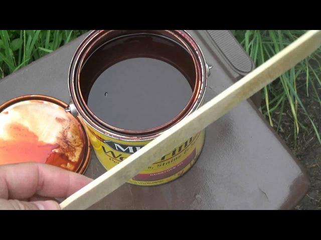 Морилка как её наносить и как глубоко она проникает How to Wood Stain