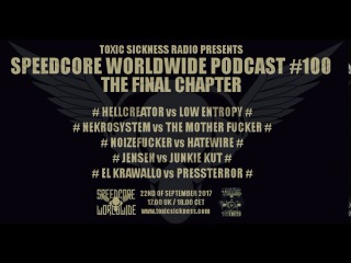 Nekrosystem vs. The Mother Fucker  Speedcore Worldwide Podcast #100 - The Final Chapter