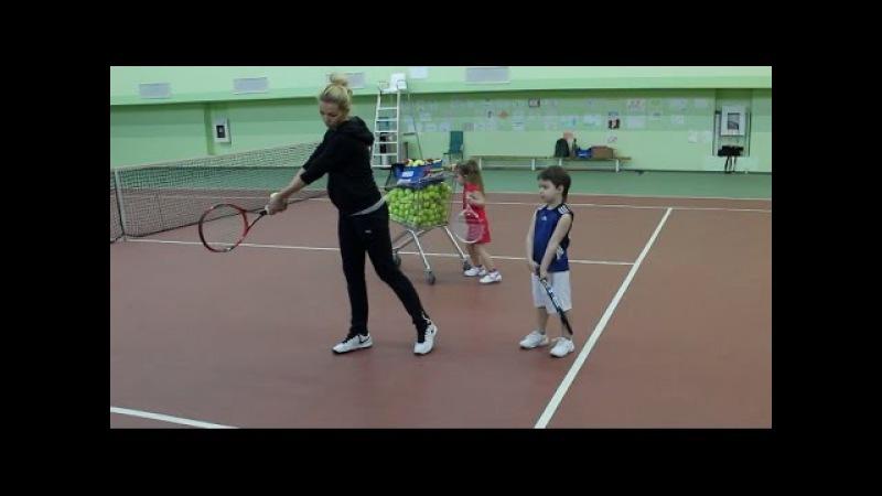 Большой теннис Удар слева Видеоурок
