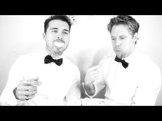 Michael Malarkey & Shaun Sipos play Bloody Chubby Bunny! The Vampire Diaries