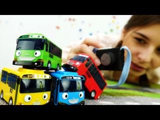 Видео для детей: ТАЙО и его друзья. Машинки фотографируются. Мультики про автобу ...