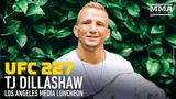 UFC 227 T.J. Dillashaw Media Lunch Scrum - MMA Fighting