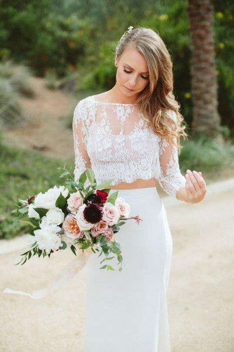 Свадебное платье кроп топ купить в москве