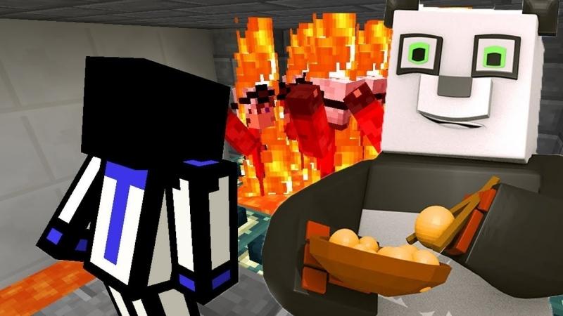 [Demaster] РЕАКЦИЯ НА ТО КАК ТЕРОСЕР ПРОХОДИТ МОЮ КАРТУ ДЛЯ НЕГО! С ВЕБКОЙ В КОСТЮМЕ ПАНДЫ! Minecraft