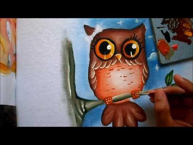 Como pintar corujinha
