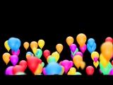 Футаж Воздушные шары переходы сборка