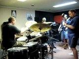 Punk band live jam