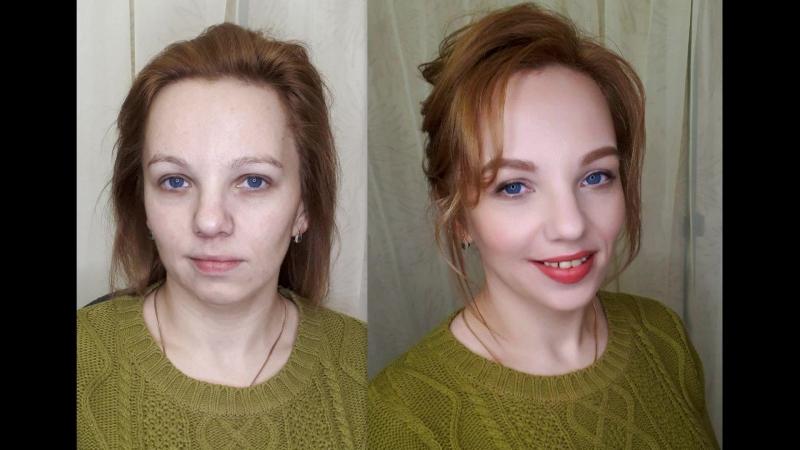 Экспресс-макияж и прическа
