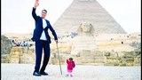 Самый ВЫСОКИЙ и самая МАЛЕНЬКАЯ встретились в Каире - Султан Кёсен и Джиоти Амге