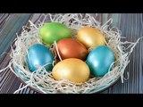 Пасхальные ЯЙЦА с БЛЕСКОМ ☆ Как быстро покрасить яйца в ЗОЛОТО
