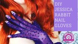 How to make Jessica Rabbit inspired nail gloves