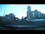 ДТП  в последний день зимы на перекрестке   пр Ветеранов и ул Лени Голикова