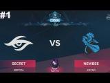 Secret vs NewBee RU #1 (bo3) ESL One Genting 2018 Minor 27.01.2018
