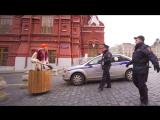Баба-Яга в ступе у Кремля