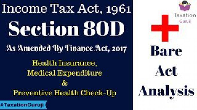 Income Tax Section 80D Bare Act Analysis, Deduction For Health Insurance Explained TaxationGuruji
