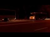 А вот и съёмки тайной операции администрации города по переброске автобусов из Краснодара в Новороссийск