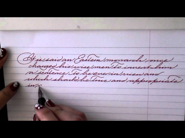 Writing with a Lamy Studio fountain pen