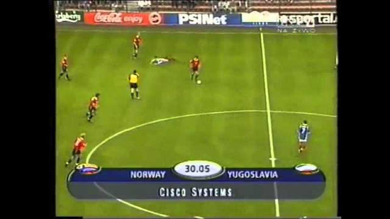 EURO 2000: Norway 0 Yugoslavia 1 - Group C (18th June 2000)