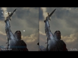 [4K] Shadow of War - Early Xbox One X vs PS4 Pro Graphics Comparison + Frame-Rate Test