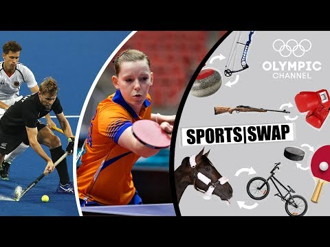 Table Tennis vs Hockey | Can They Switch Sports? | Sports Swap
