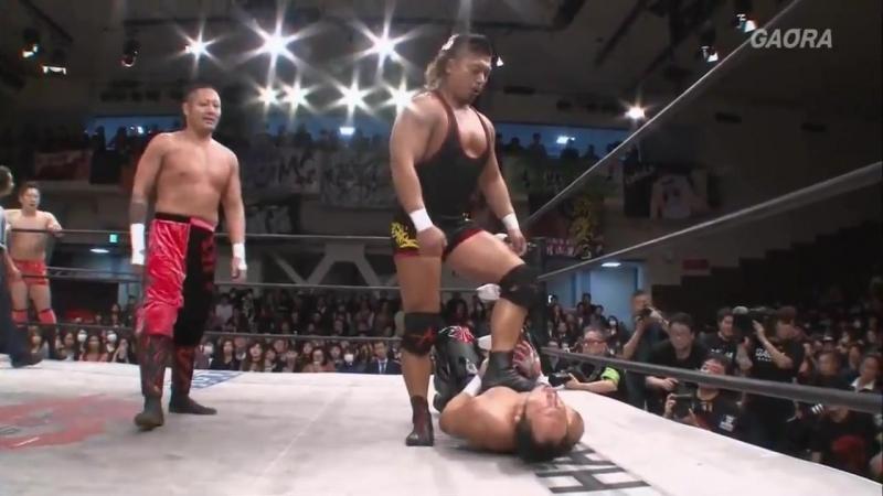 Ryo Saito, Punch Tominaga vs. Shingo Takagi, Yasushi Kanda (Dragon Gate Kotoka - Road to Final 2018 - Day 5)