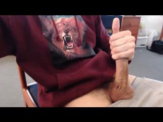Wanking long dick on webcam