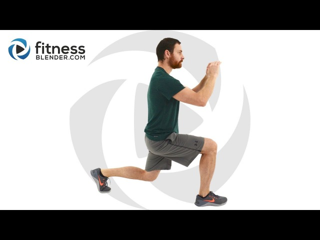 30 Minute HIIT Cardio and Lower Body Strength Workout - Muscle Building, Fat Burning Home Workout