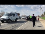 Лобовое автомобильное столкновение на Московском шоссе