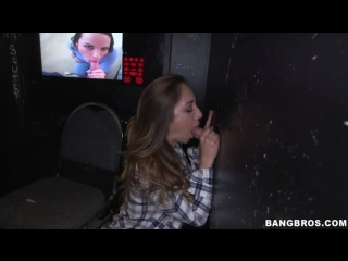 Remy LaCroix takes on 4 dicks in gloryhole [BangBros, 2014, Brunette Teen]