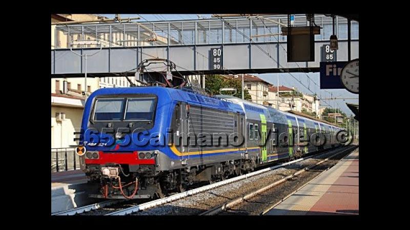 TRENI IN TRANSITO A FIRENZE E MILANO: 2x Treno Intercity,9x Merci,3x Invii,2x Regionali TRENITALIA