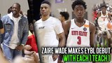 Russell Westbrook &amp Dwyane Wade watch Zaire Wade Make Nike EYBL Debut with E1T1