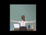 8 упражнений для спины за столом