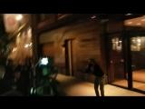Белла и Джиджи покидают апартаменты Джиджи, Нью-Йорк (23.04.18)