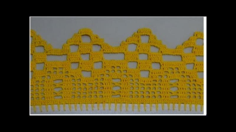 Barrado em crochê para pano de prato ou toalhas 73