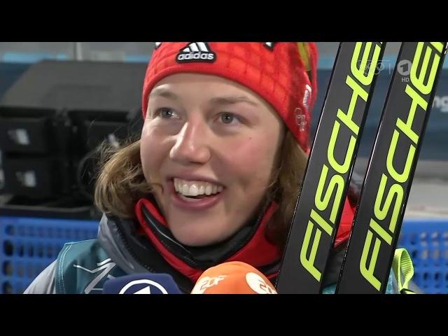 Лаура Дальмайер и Ванесса Хинц после спринта ОИ 2018