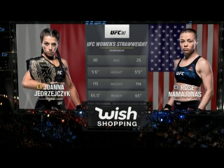 UFC 217 Первый наилегчайший вес Йоанна Енджейчик (ч) — Роуз Намаюнас