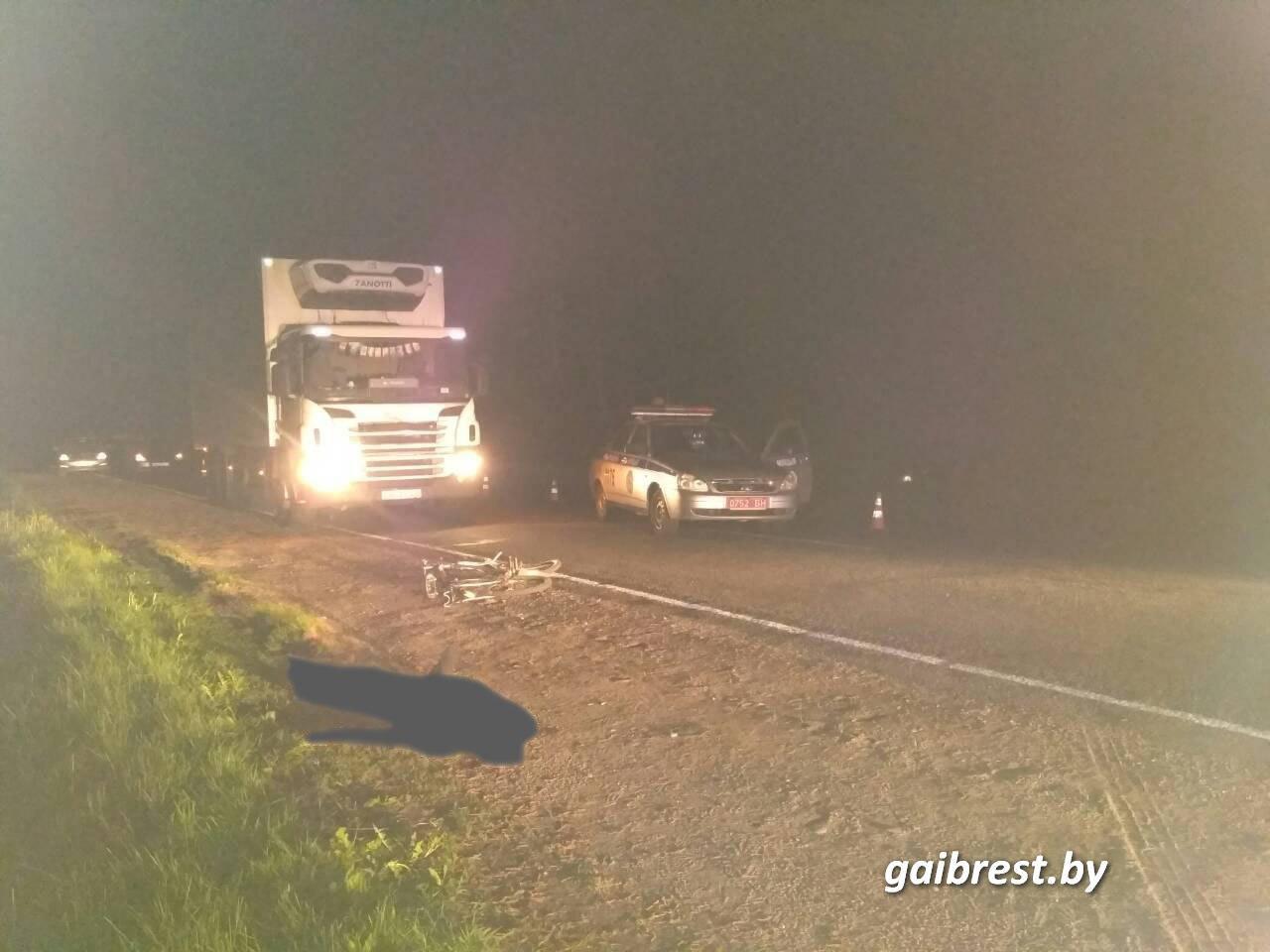 На Р-4 в Барановичском районе в ДТП погиб велосипедист