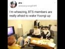 BTS боятся разбудить спящего Юнги