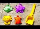 Игры для детей на улице Собираем Формочки Видео про Песочницу