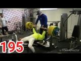 Александр Гаголин - жим лежа 195 кг (75 кг)