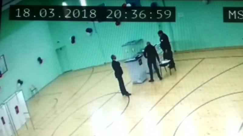 Вброс на выборах Крым Нижнегорский Участок 3 школа УИК № 952 18 марта 2018