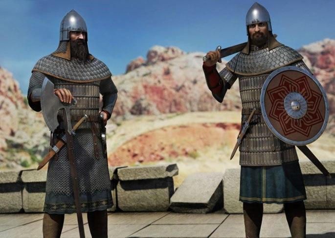 Древние армянские пехотинцы