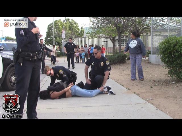 Copwatch Teen Forceful Arrest Parent Crowd Upset w Police Actions