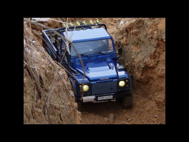 Rc Land Rover defender 90 WildBrit and defender 110 HCPU crawling