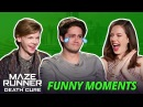 Dylan OBrien Crying - Maze Runner Bloopers Funny Moments The Death Cure
