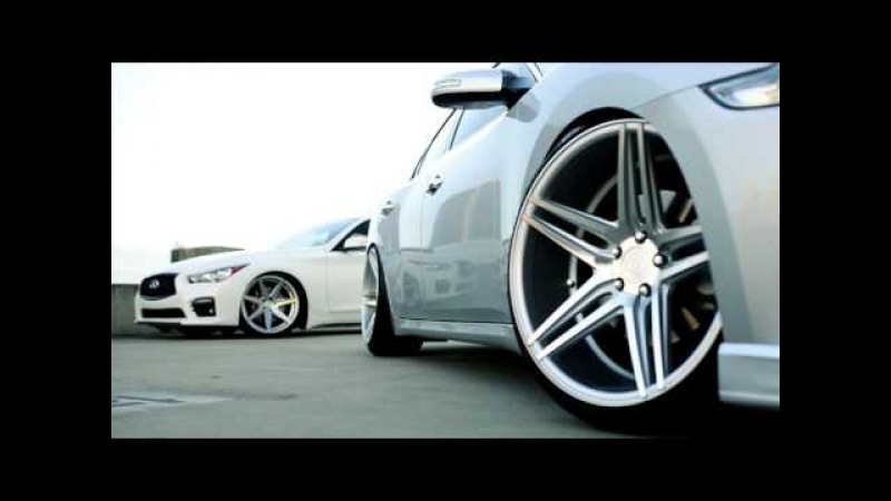 Nissan Maxima Rohana Wheels RC8 and Infiniti Q50S Rohana Wheels RC7
