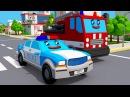 Мультфильмы для детей - Пожарная Машина и Полицейская Машина в городке 3D Мультик