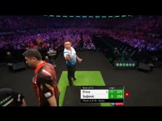 Gerwyn Price vs Mensur Suljović (2018 Premier League Darts / Week 4)