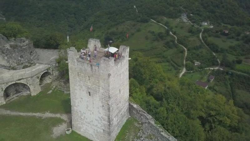 Анакопия крепость Облетел на квадрике