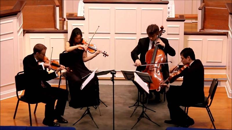 Britten's Three Divertimenti III Burlesque Amphion String Quartet Live